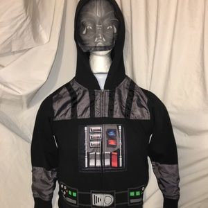 Youth Vader hoodie with face mask size medium
